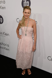 Naomi Watts was sweet and sophisticated in a pink strapless dress by Calvin Klein during the brand's Cannes party.