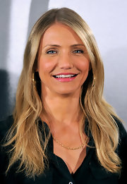 Cameron Diaz flaunted her honey-blond locks while attending 'The Green Hornet' photo call. The actress has been growing her tresses out as of late.