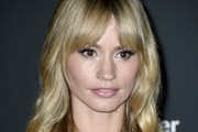 Cameron Richardson Long Wavy Cut with Bangs