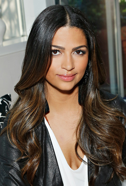 Camila Alves Long Wavy Cut [i.n.c. 2013 holiday preview,hair,hairstyle,eyebrow,face,long hair,black hair,brown hair,layered hair,lip,hair coloring,camila alves,arrivals,courage in journalism awards,new york city,i.n.c.]
