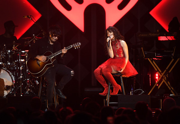 Camila Cabello Over the Knee Boots [string instrument,performance,music,performing arts,musician,entertainment,concert,music artist,guitarist,camila cabello,xcel energy center,st. paul,minneapolis,minnesota,kdwb,capital one,jingle ball,show]
