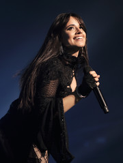 Camila Cabello was punk-chic with her fingerless gloves while performing in New York City.