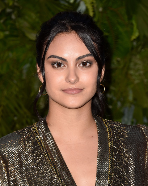 Camila Mendes Ponytail [arrivals,hair,face,eyebrow,hairstyle,beauty,lip,lady,black hair,photo shoot,makeover,california,los angeles,chateau marmont,max mara wif face of the future,max mara women in film face of the future,camila mendes]