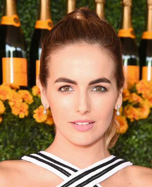 Camilla Belle Dangling Diamond Earrings [hair,face,eyebrow,hairstyle,beauty,lip,chin,skin,forehead,eye,camilla belle,veuve clicquot polo classic,red carpet,los angeles,pacific palisades,california,will rogers state historic park]