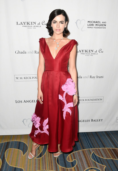 Camilla Belle Evening Dress [clothing,dress,fashion model,fashion,formal wear,shoulder,cocktail dress,gown,bridal party dress,pink,arrivals,camilla belle,beverly hills,california,beverly wilshire four seasons hotel,los angeles ballet gala]
