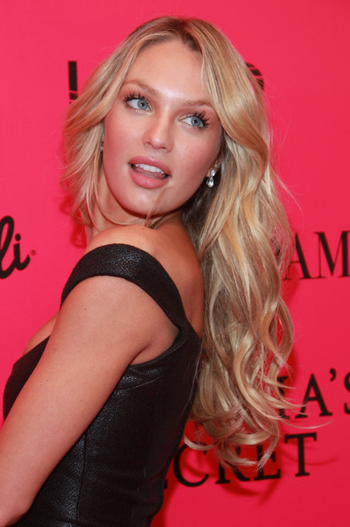 Candice Swanepoel Long Curls [hair,beauty,blond,human hair color,eyebrow,hairstyle,lady,model,lip,chin,candice swanepoel,lavo,new york city,party,party,victorias secret fashion show]