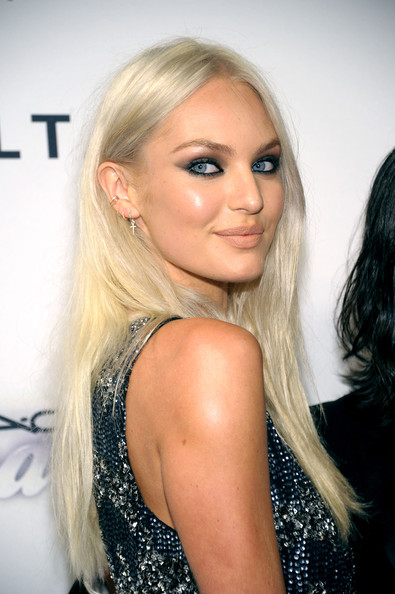 Candice Swanepoel Smoky Eyes [hair,blond,eyebrow,beauty,human hair color,hairstyle,fashion model,long hair,chin,forehead,arrivals,candice swanepoel,new york,the plaza hotel,amfar inspiration gala]