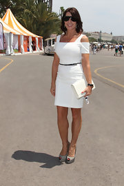 Nadia looked stunning in Cannes, wearing this gorgeous white number with cut-out details.