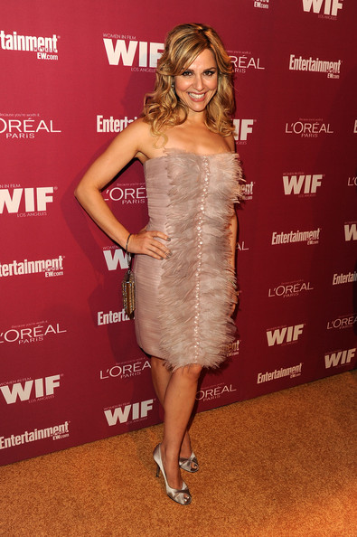 Cara Buono Cocktail Dress [entertainment weekly and women in film pre-emmy party,loreal,clothing,dress,cocktail dress,shoulder,strapless dress,premiere,carpet,joint,fashion model,muscle,west hollywood,california,boa steakhouse,cara buono]
