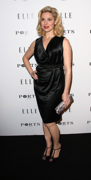 Cara Buono Evening Pumps [inaugural women in television celebratory dinner,dress,clothing,cocktail dress,little black dress,fashion model,hairstyle,shoulder,fashion,blond,premiere,cara buono,arrivals,west hollywood,california,soho house,elle,inaugural women in television celebratory dinner]