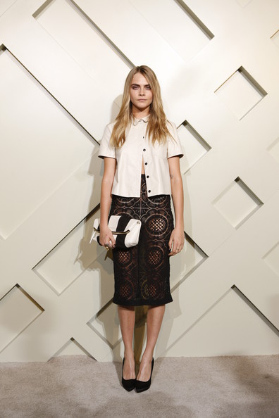 Cara Delevingne Pencil Skirt
