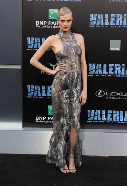 Cara Delevingne Evening Sandals [fashion model,flooring,fashion,carpet,catwalk,fashion show,fashion design,red carpet,arrivals,valerian,cara delevingne,valerian and the city of a thousand planets,tcl chinese theatre,california,europacorp,stx entertainment,premiere,premiere]