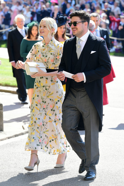 Carey Mulligan Embroidered Dress [harry,meghan markle,marcus mumford,carey mulligan,fashion,event,street fashion,footwear,suit,outerwear,dress,shoe,style,formal wear,windsor castle,st georges chapel,windsor,england,wedding]