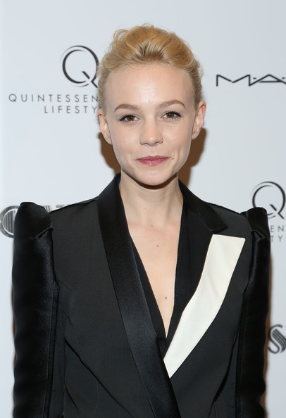 Carey Mulligan Pink Lipstick [pre-met ball special screening of ``the great gatsby,the great gatsby,hair,hairstyle,beauty,suit,fashion model,long hair,formal wear,dress,white-collar worker,tuxedo,arrivals,carey mulligan,screening,pre-met ball,new york city,moma]