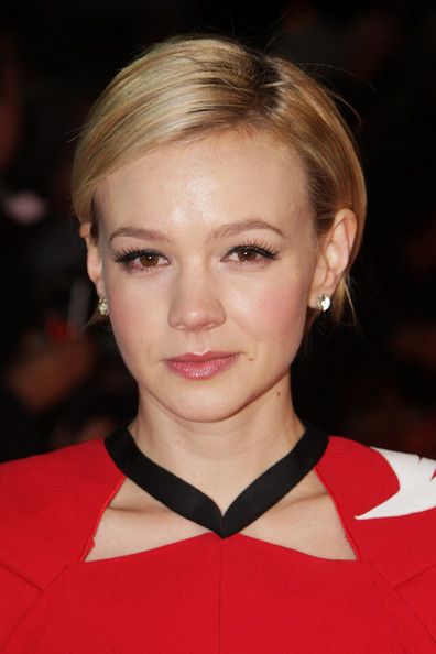 Carey Mulligan Side Parted Straight Cut