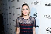 Carly Chaikin Embroidered Dress