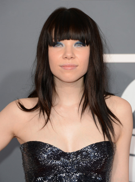 Carly Rae Jepsen Long Straight Cut with Bangs