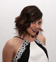 Krysta Rodriguez looked sweet and glam with her short waves at the Carmen Marc Valvo show.