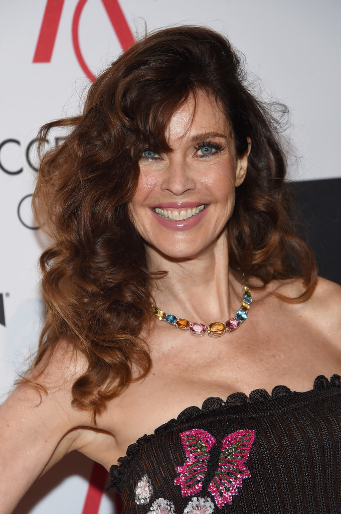 carol alt long curls with bangs carol alt looks stylebistro