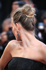Natasha Poly rocked a messy bun at the 'Carol' premiere in Cannes.