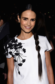 Jordana Brewster charmed with her super-long braid at the Carolina Herrera fashion show.
