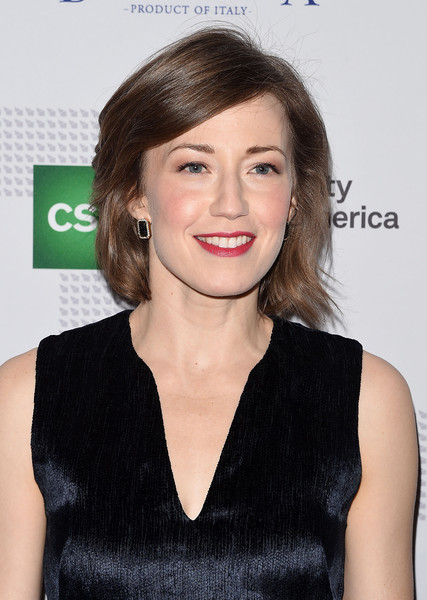 Carrie Coon Bob [hair,face,hairstyle,lip,eyebrow,beauty,chin,premiere,shoulder,dress,carrie coon,new york city,42west,annual artios awards]