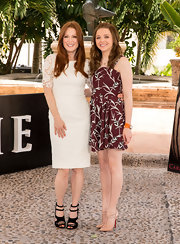 Julianne Moore's lace dress was a simple but elegant choice for her look at the 'Carrie' press call in Mexico.