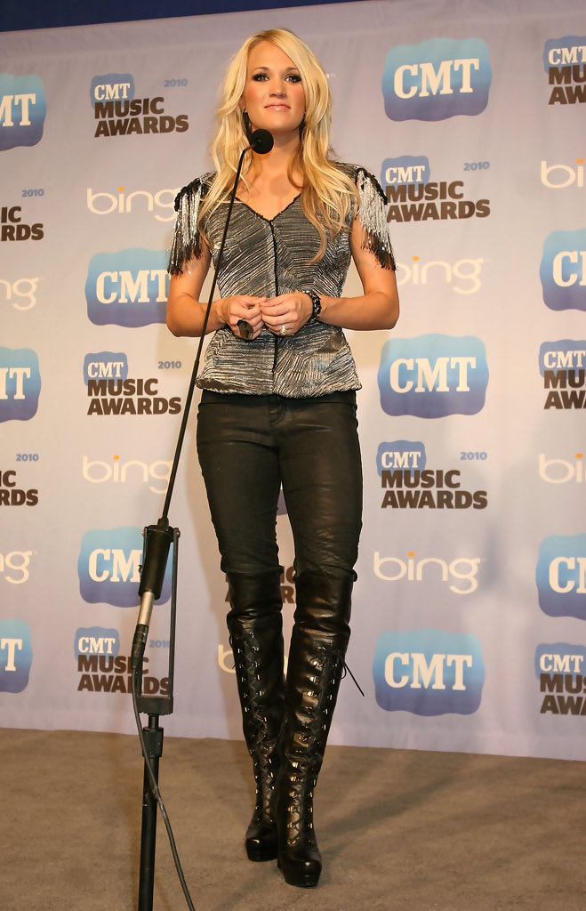 Carrie Underwood Knee High Boots Carrie Underwood Boots