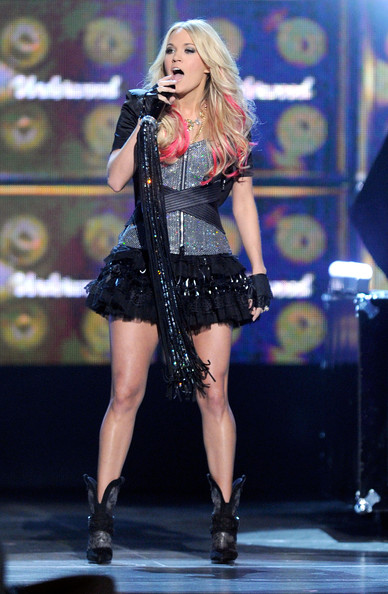 Carrie Underwood Cocktail Dress [performance,entertainment,performing arts,music artist,thigh,singer,singing,stage,lady,public event,carrie underwood,las vegas,nevada,mgm grand garden arena,academy of country music awards,show]