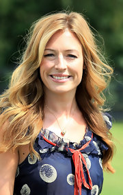 Cat Deeley showed off her long curls while hitting the Cartier Polo Day.