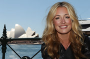 Cat Deeley appeared fresh-faced and with golden locks flowing at the global launch of Playstation Dancester Party.