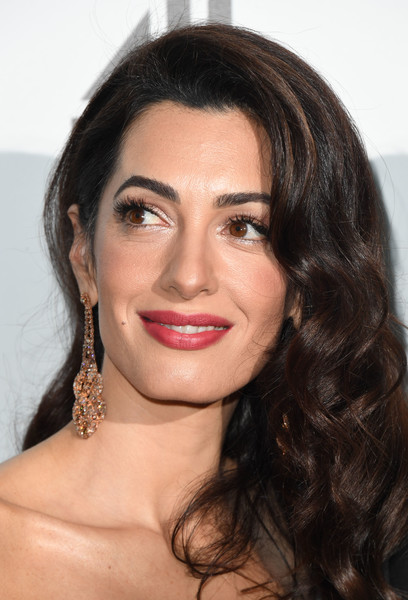 More Pics of Amal Clooney Box Clutch (1 of 20) - Amal Clooney Lookbook - StyleBistro [catch 22,hair,face,eyebrow,lip,hairstyle,chin,forehead,beauty,black hair,long hair,arrivals,amal clooney,uk,london,premiere,premiere]