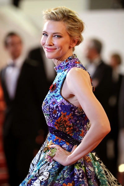 Cate Blanchett Butterfly Ring [hair,fashion,clothing,dress,hairstyle,beauty,blond,formal wear,fashion design,shoulder,red carpet arrivals,cate blanchett,jury,screening,cannes,france,zimna wojna,cold war,cannes film festival,palais des festivals]