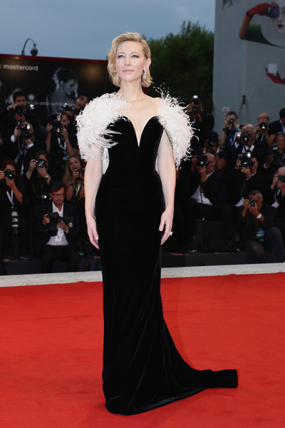 Cate Blanchett Evening Dress [a star is born,red carpet,fashion model,carpet,dress,clothing,gown,shoulder,flooring,fashion,premiere,cate blanchett,sala grande,red carpet,venice,italy,a star is born red carpet arrivals,venice film festival,screening]
