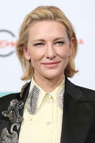 Cate Blanchett Bob [the house with a clock in its walls,hair,blond,hairstyle,eyebrow,chin,white-collar worker,long hair,official,layered hair,smile,cate blanchett,photocall,auditorium parco della musica,rome,italy,photocall - 13th rome film fest]