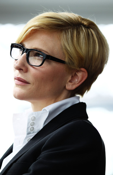 Cate Blanchett Short Side Part [new book ``here on earth,book,here on earth,eyewear,hair,glasses,face,hairstyle,blond,chin,vision care,forehead,suit,tim flannery,cate blanchett launches,cate blanchett,wharf restaurant,australia,sydney,launch]