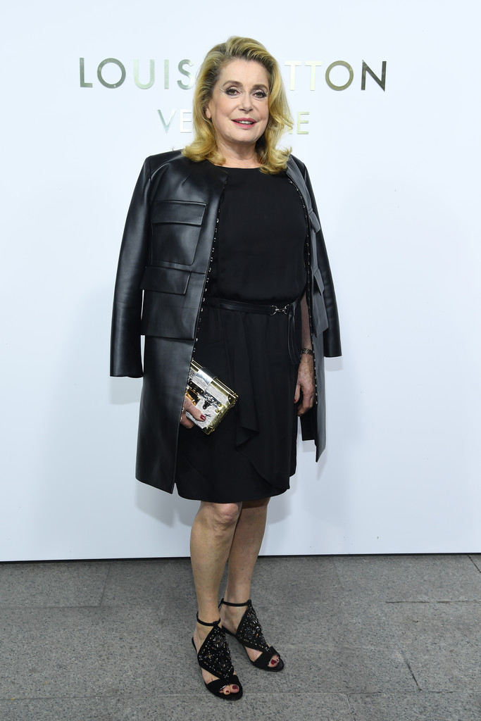 Catherine Deneuve Leather Coat Catherine Deneuve Looks
