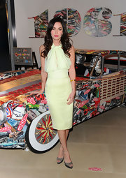 Megan Fox wore her hair in long, shiny curls at the 50th Anniversary of Jaguar event.
