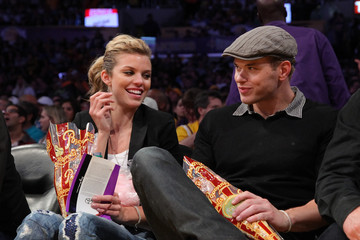 AnnaLynne McCord Kellan Lutz Celebrities At The Lakers Game
