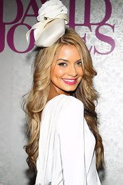 DJ Havana Brown flashed a flirty smile with her hot pink lips at the BMW Caulfield Cup Day.