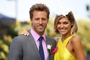 Ashley Hart looked great with her short hair down at the Crown Oaks Day.