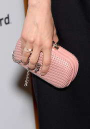 Taylor Schilling added some luxurious sparkle with a pair of diamond rings.