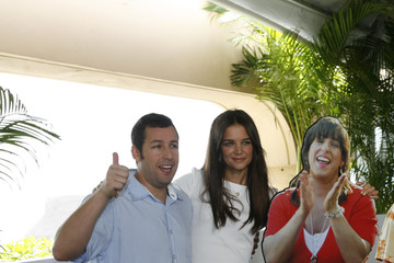 Adam Sandler Katie Holmes Celebrities Attend Summer Of Sony 2011