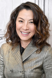 Michelle Yeoh rocked high-volume curls while visiting Build.