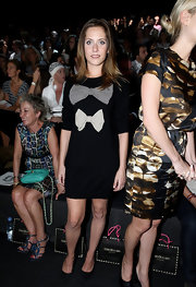 This playful knit dress with bow details was a cute look for Maria Leon at a fashion show in Madrid.