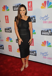 Tia Carrere went for simple elegance with this off-the-shoulder LBD with an asymmetrical neckline at the 'Celebrity Apprentice' live finale.
