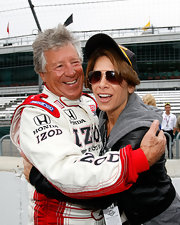 Jillian Michaels wore modern rectangular sunnies while getting a two-seater ride at the Indianapolis 500.