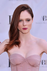 Coco Rocha's red locks looked stunning and effortlessly elegant in this deep side part.