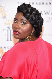 Danielle Brooks showed off an elaborately braided updo at the Fragrance Foundation Awards.