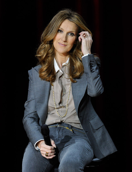 Celine Dion Gemstone Ring [celine dion returns to the colosseum at caesars palace,show,beauty,jeans,fashion model,hairstyle,cheek,long hair,photography,blond,outerwear,photo shoot,celine dion,dion,hair,the colosseum,caesars palace,las vegas,nevada,news conference]